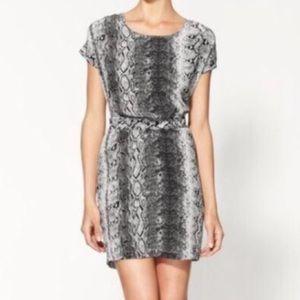Joie Snakeskin shift dress, size S